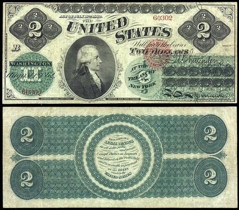 Два доллара — редкая банкнота. Везение или неудача?   купюра доллар деньги банкнота